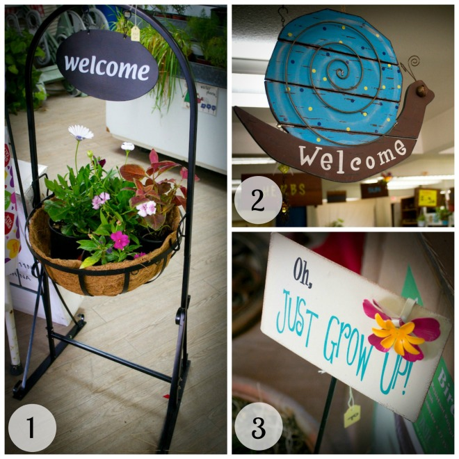 Garden Signs Collage