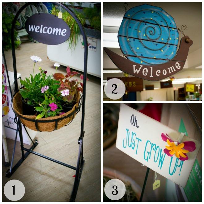Garden Signs Collage