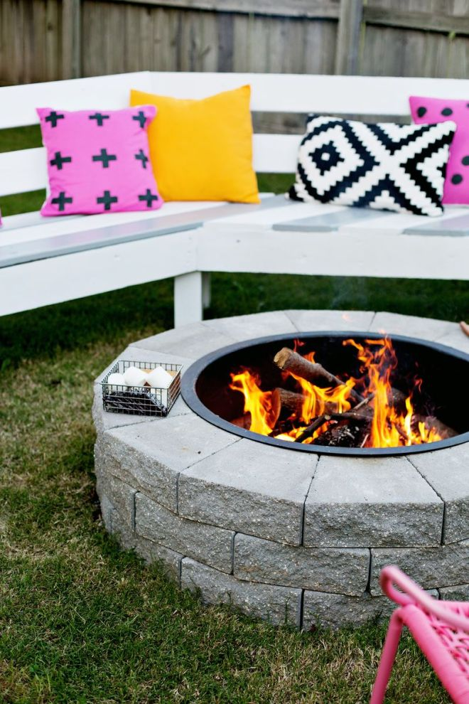 Make Your Own Firepit in 4 Easy Steps by' A Beautiful Mess'