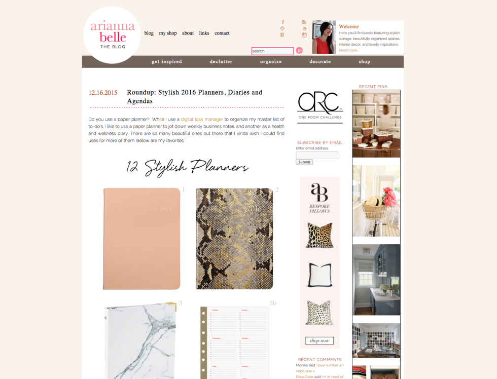 Arianna Belle Blog