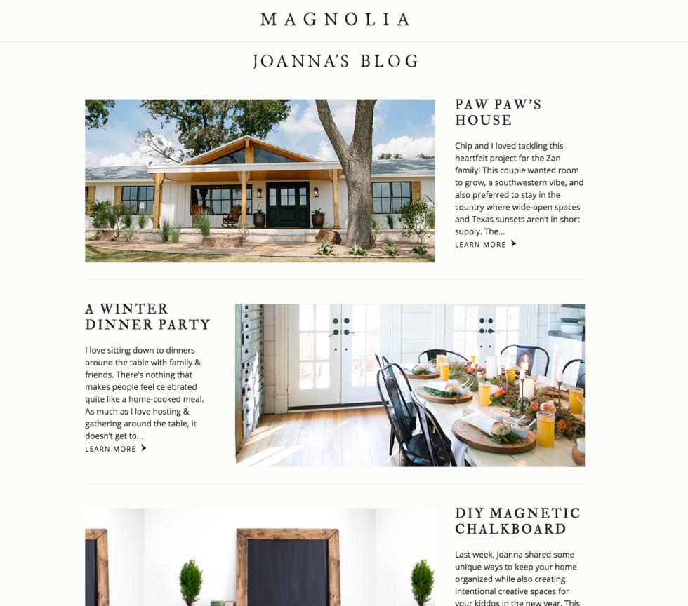 Magnolia Market Blog