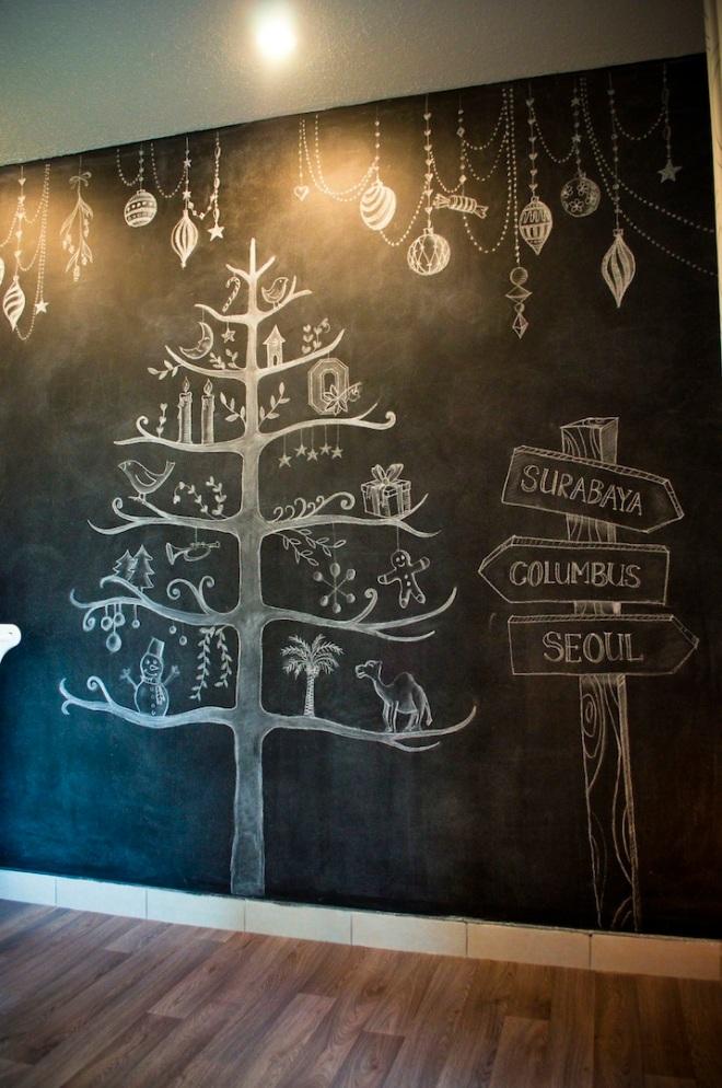 Erlina's Chalkboard Wall