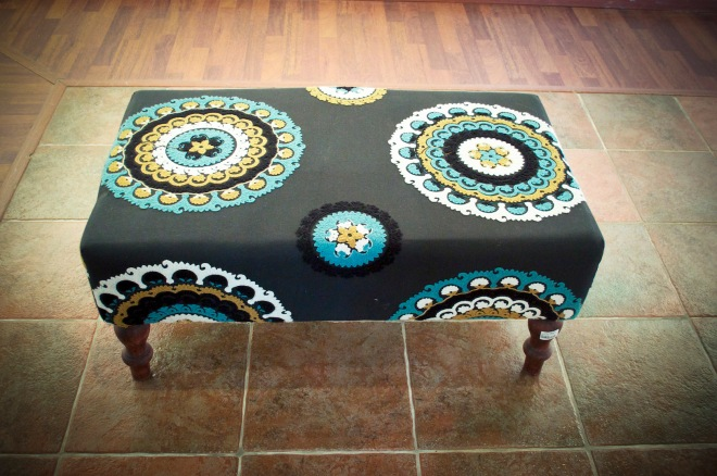 Material from Uzbekistan, converted into an ottoman. SR 1250.