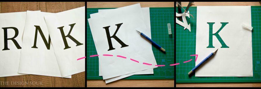 Xacto Letters for Doormat